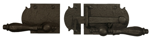 Dark Bronze Ornate Lever Latch (Build Your Own Package)