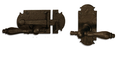 "Dark Bronze 5"" Ornate Plate with Lever Latch (Build Your Own Package)"