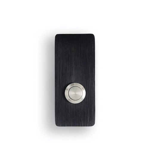 Rectangle Modern Black Doorbell Button