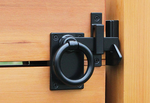 Contemporary Ring Gate Latch - Mid-Post Mount (Build Your Own Package)