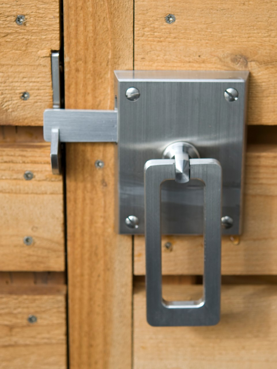 Elise stainless steel gate latch single gate hardware package elise single latch installed