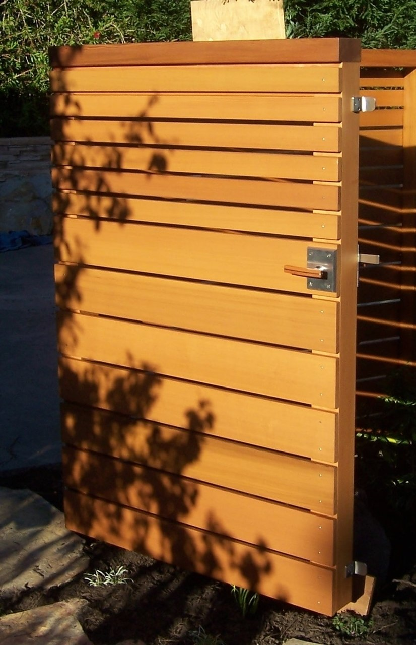 Gate Stop L Shape Stainless Steel Satin Black Ldgs02 Installed