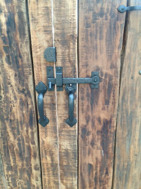Outswinging Double Wooden Gate With Coastal Bronze Thumb Latch 40 300 Straight And Coastal Bronze Gate Stop 50 250