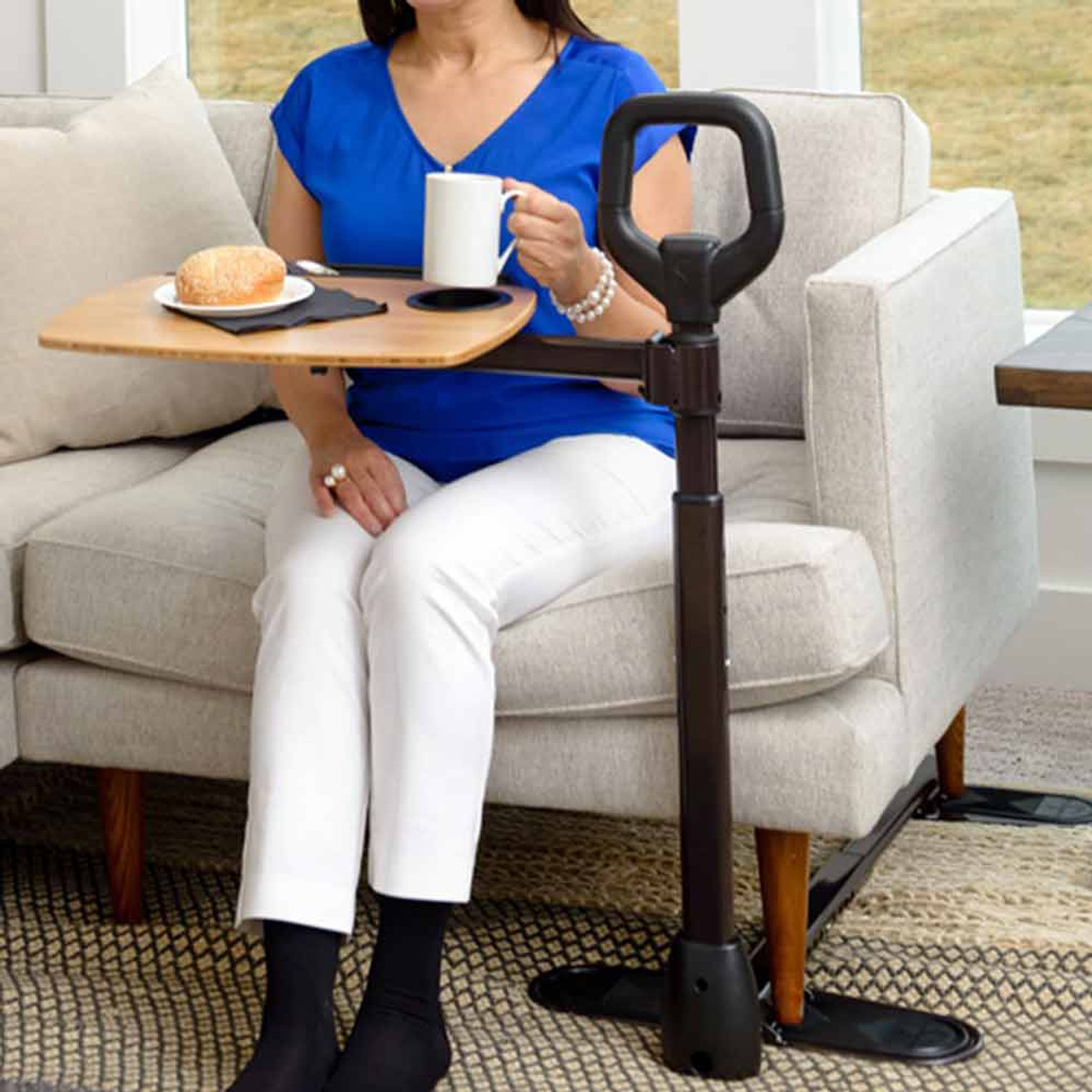 Couch Swivel Tray with Cane CSACT1