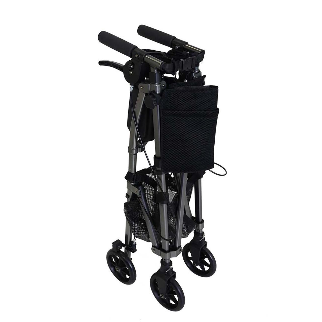 Portable Folding Mobility Walker MWPFL1  Folded Black