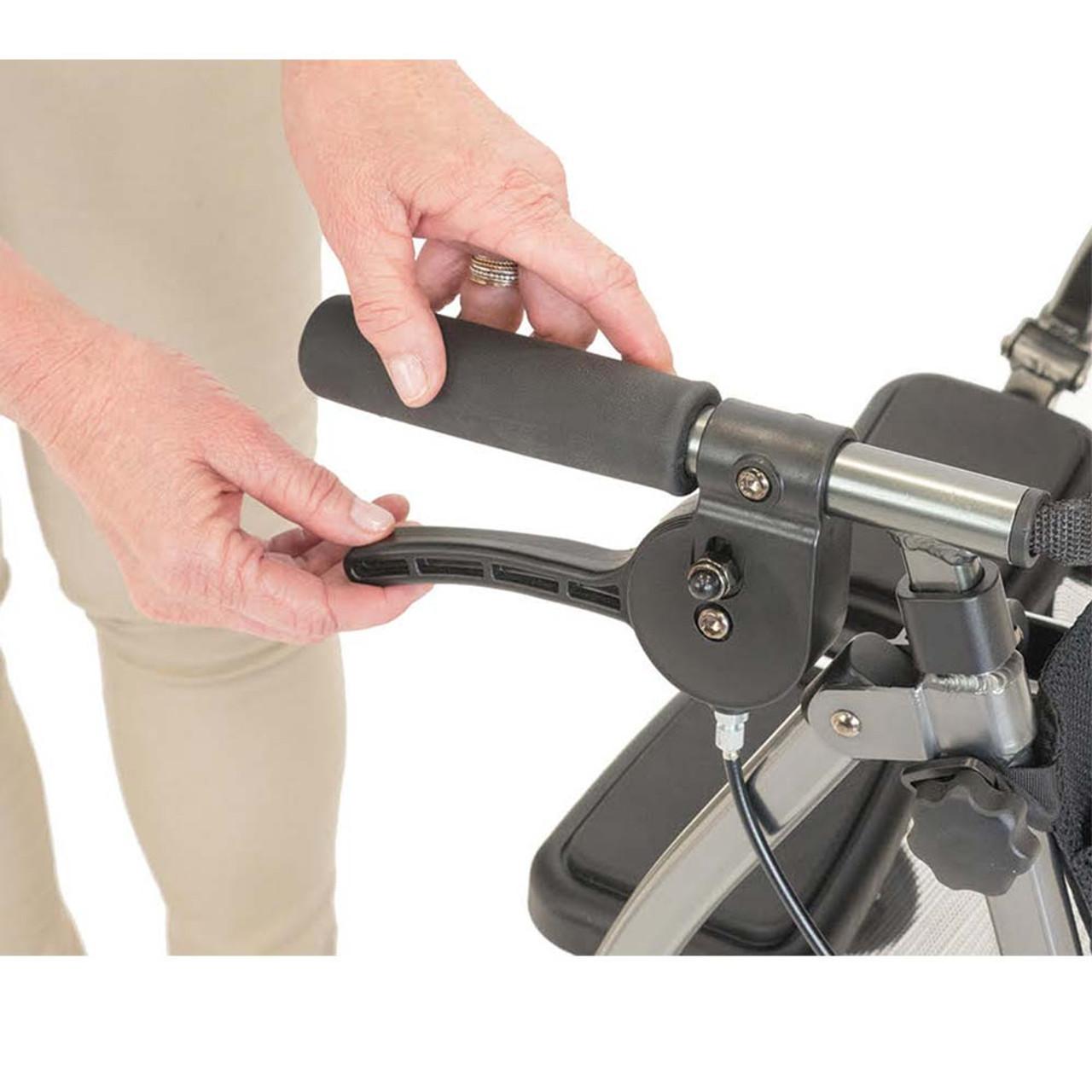 Portable Folding Mobility Walker MWPFL1  Brakes