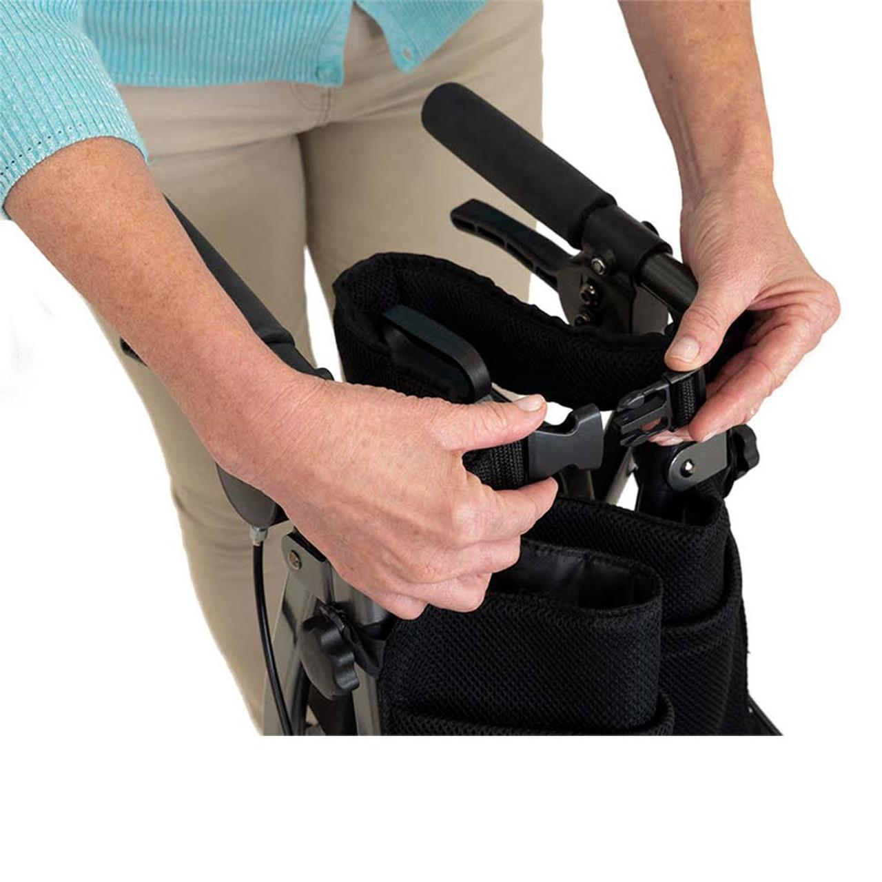 Portable Folding Mobility Walker MWPFL1  Open Back View Clip
