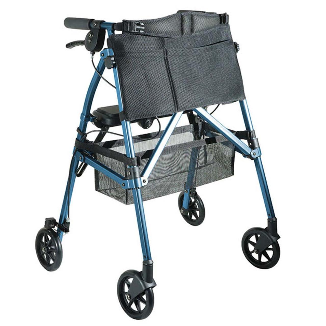 Portable Folding Mobility Walker MWPFL1  Open Blue
