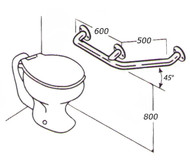 Toilet Rail 32mm Stainless AC0480 05A