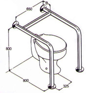 Toilet Rail 32mm Stainless AC0340 010