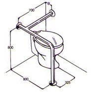 Toilet Rail 32mm Stainless AC0680 011