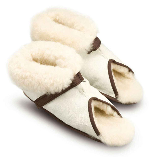 Open Toe Sheepskin Slippers MD0420