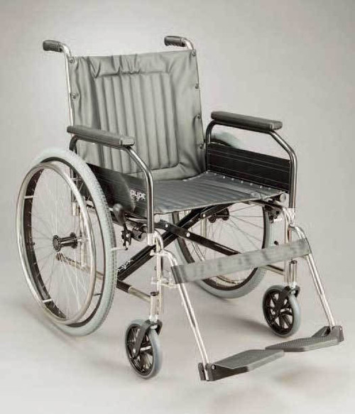 MANUAL STAINLESS WHEELCHAIR 100KG CAPACITY GLIDE SERIES 3