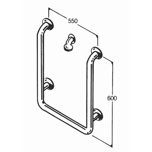 Shower Rail 32mm Stainless Type 016
