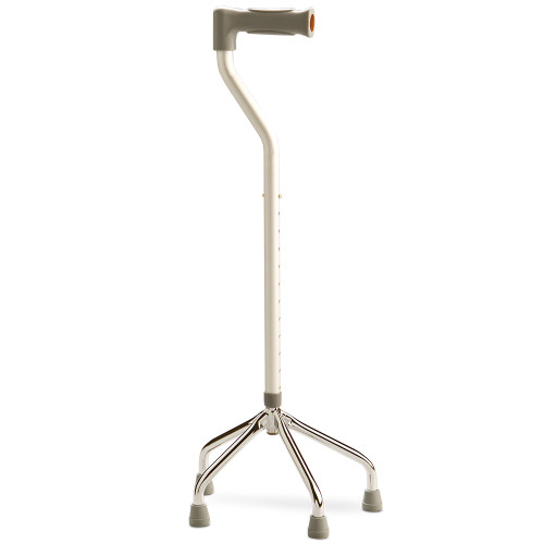 Walking Stick Quad Foot Adjustable Offset Small Base 951