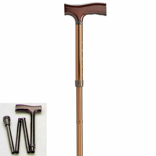 Walking Stick Timber Handle Folding 728