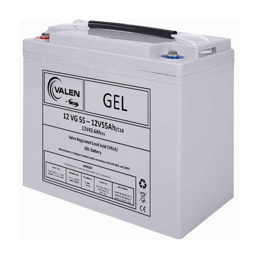 Gel Battery Valen 12v 55ah