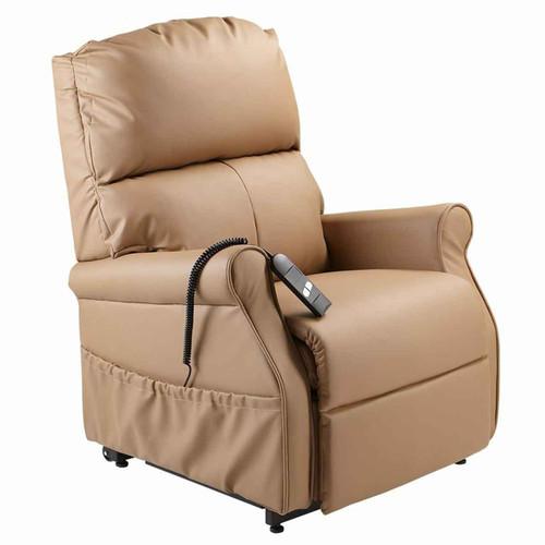 Lift Chair Recliner Torrens Dual Coffee Cream