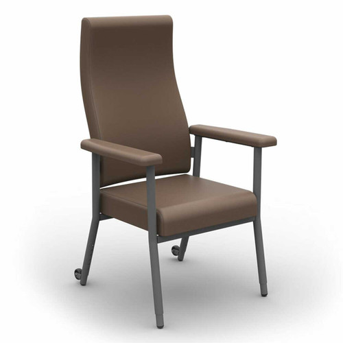 Katie High Back Chair 200kg Capacity Brown