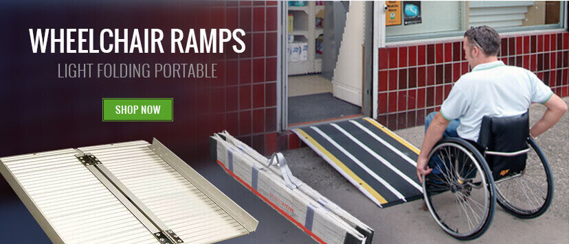 Wheelchair access is important. We have a folding wheelchair ramp that will suit most needs. Help is at hand.