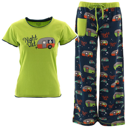 Night Out Camping Glamping Trailers Pajama Sets