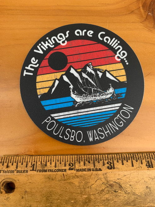 Vikings are Calling Poulsbo Washington Ship Vinyl Sticker Decal
