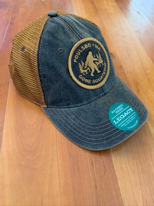 """Trucker Hat """"Gone Sasquatchin"""" Poulsbo Wa"""