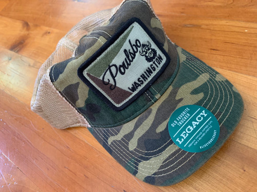 Camo Viking Poulsbo Washington Trucker Hat