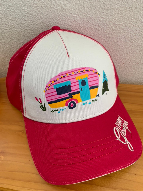 Pink Glamper Camper Woman's hat snap back