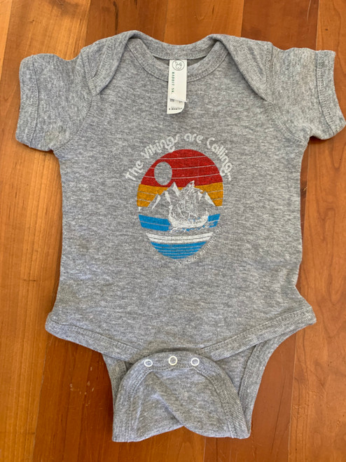 "Infant ""The Vikings are Calling"" Poulsbo Washington Onesie"