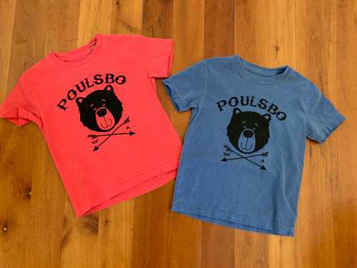 Unisex Children's Poulsbo Bear t-shirt Kids Tee