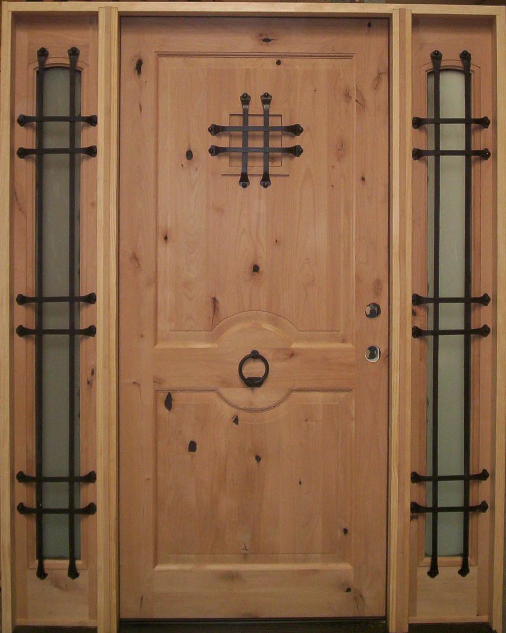 Door Knocker Door 36 Prehung Rustic Style Entry Door W 2 12 Sidelights Unfinished