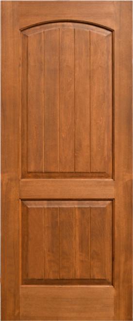 Alder 96  Interior Door 2-Panel Soft Arch w/ Panels & Alder 96