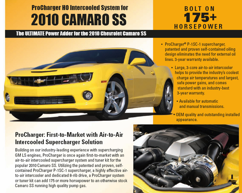 ProCharger HO Intercooled Supercharger 2010+ Camaro SS