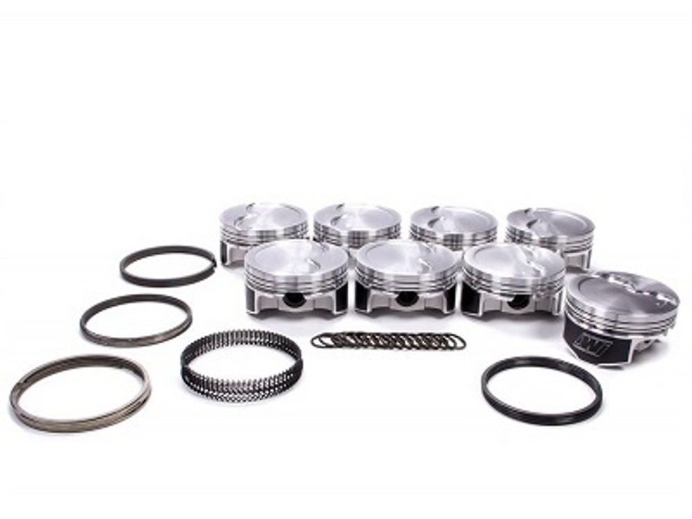 """Wiseco LS Pistons with Rings, 4"""" Stroker, Nitrous/Turbo 2618 Alloy, 4.070"""" Bore, -3cc, Part #K464X7"""