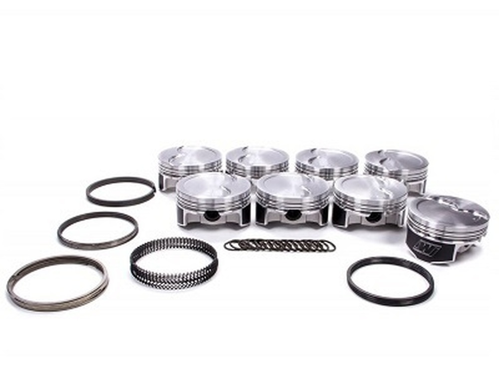 """Wiseco LS Pistons with Rings, 4"""" Stroker, Nitrous/Turbo 2618 Alloy, 4.070"""" Bore, -15cc, Part #K445X7"""