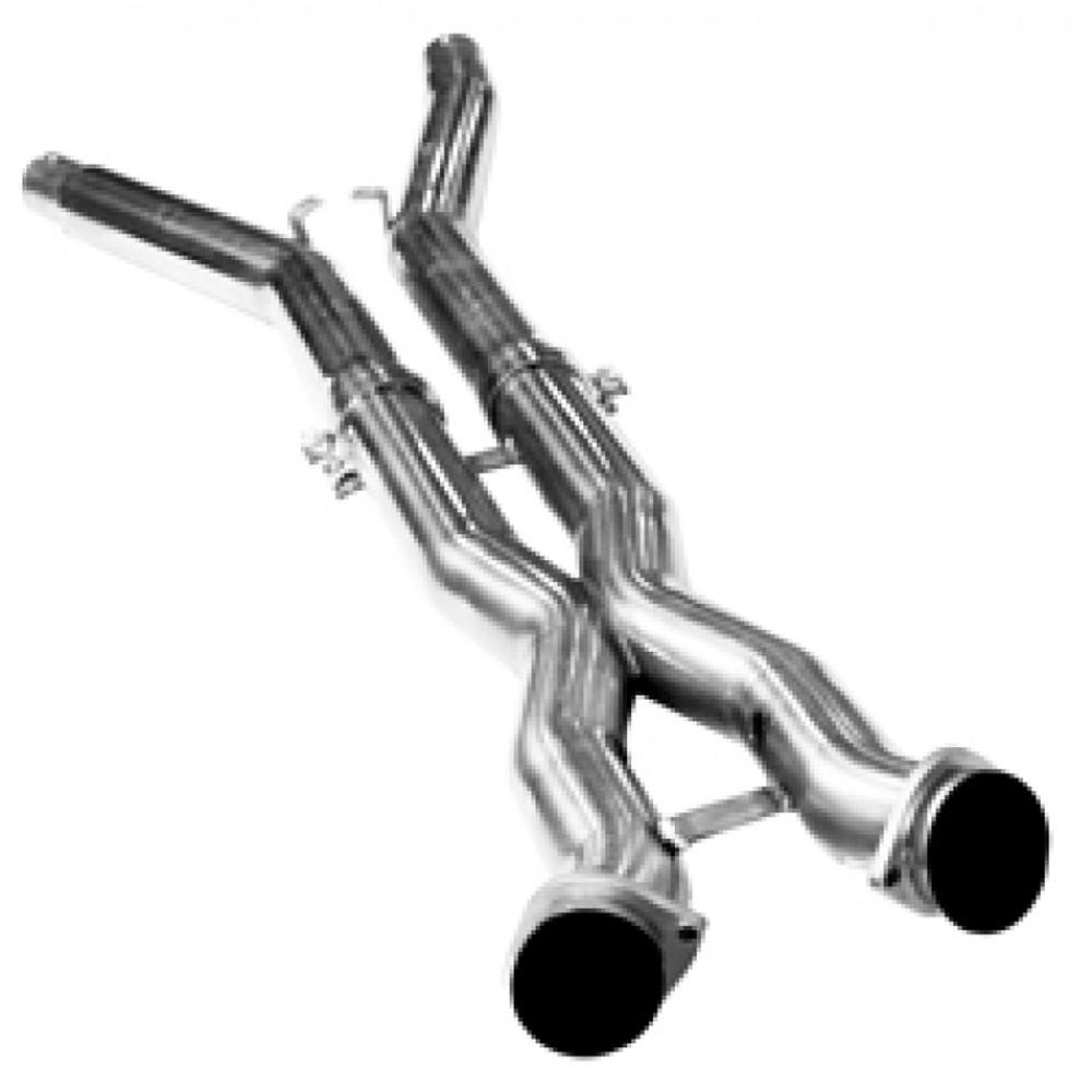 """Kooks 3"""" x OEM Off Road X-Pipe for 2005-2008 C6 Corvette #21603100"""