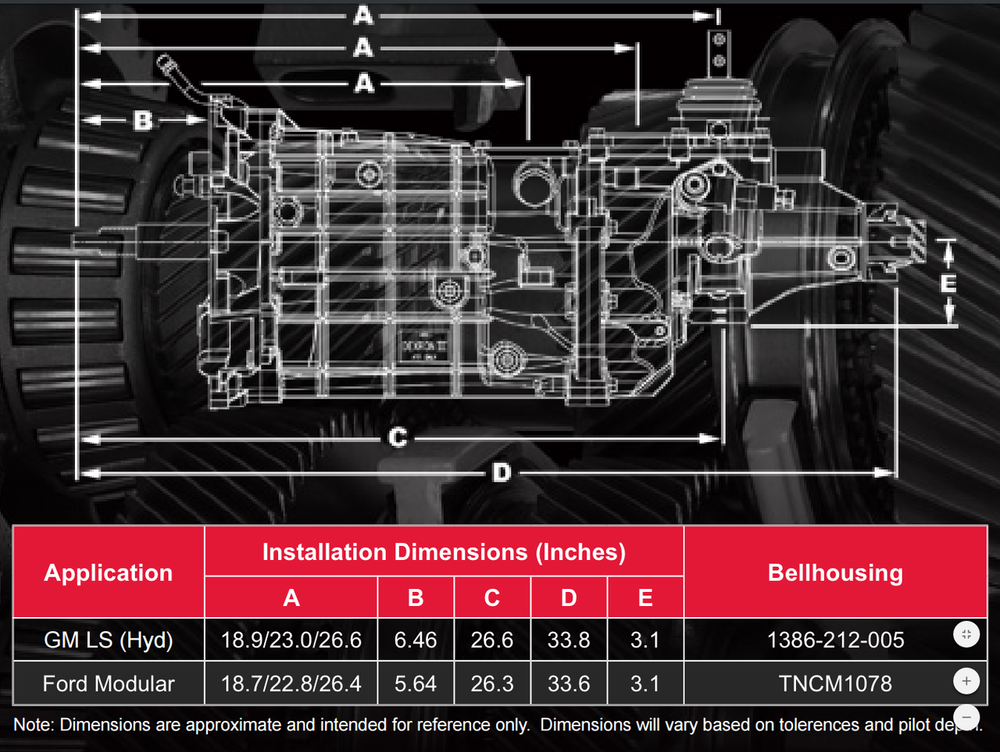 """Tremec T56 Magnum Manual Transmission 6-Speed 1-1/8"""", 26 Spline with 2.97:1 Gear Ratio for GM LS Engines, Part #TUET-16885"""
