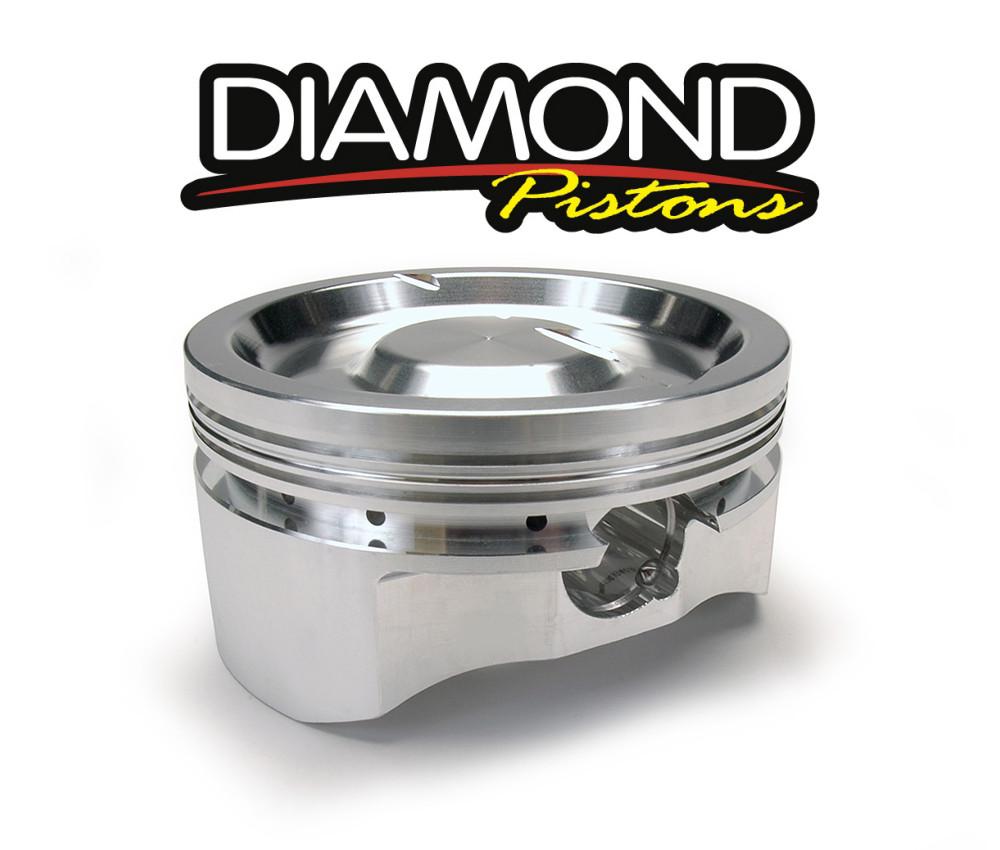 Diamond Racing Pistons Complete Piston Set, Part #11504R1