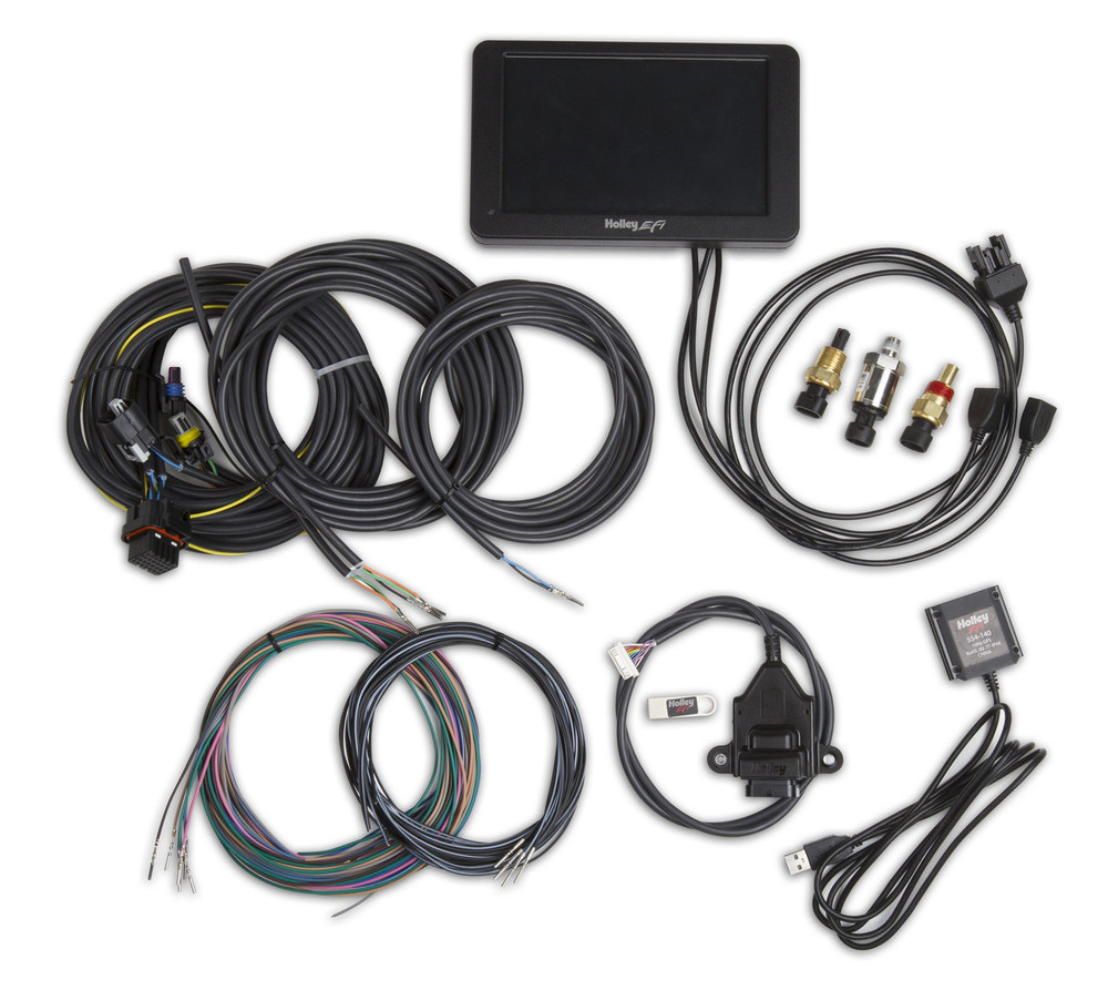 "Holley Stand Alone Digital Dash Kit, 7"" Digital Dash, Compact & Fully Customizable, Part# 553-109"