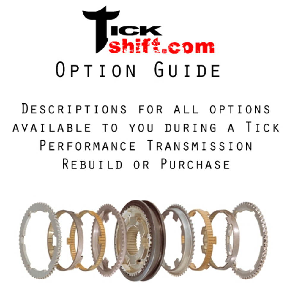 option guide for t56/tr-6060 transmission rebuilds