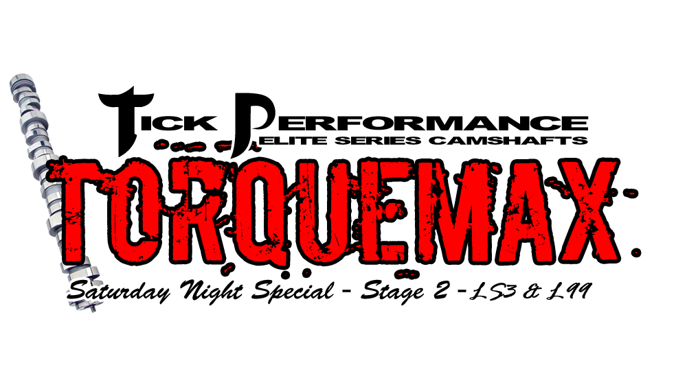 Tick Performance SNS TorqueMAX Stage 2 Camshaft for LS3 & L99 Engines SNS0023