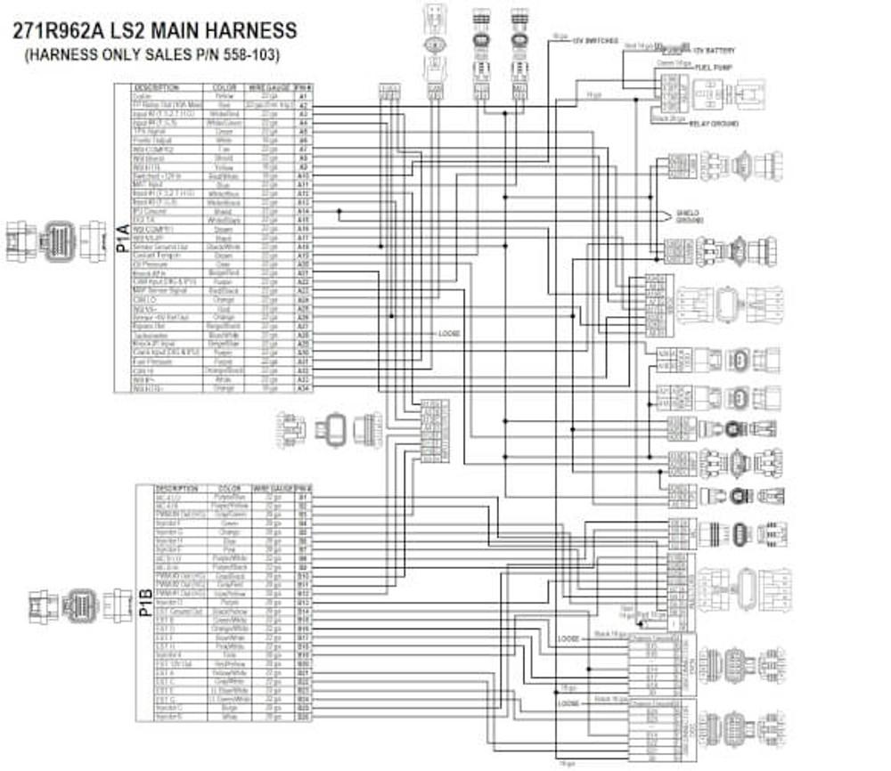 Holley EFI Terminator X LS2/LS3 & Late 58X/4X LS Truck MPFI Kit #550-905