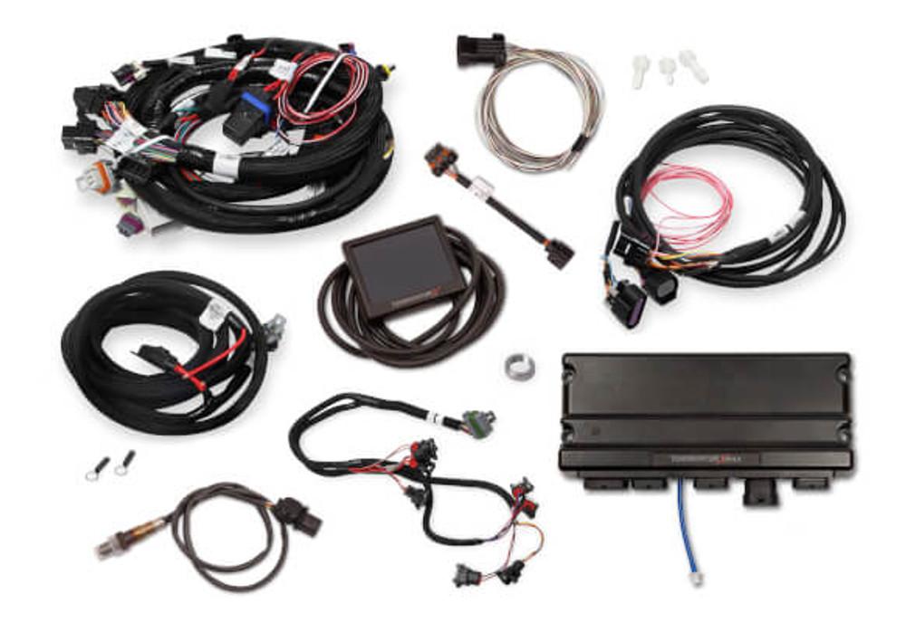 Holley EFI Terminator X MAX LS1 24X/1X MPFI Kit with DBW Throttle Body & Transmission Control #550-926