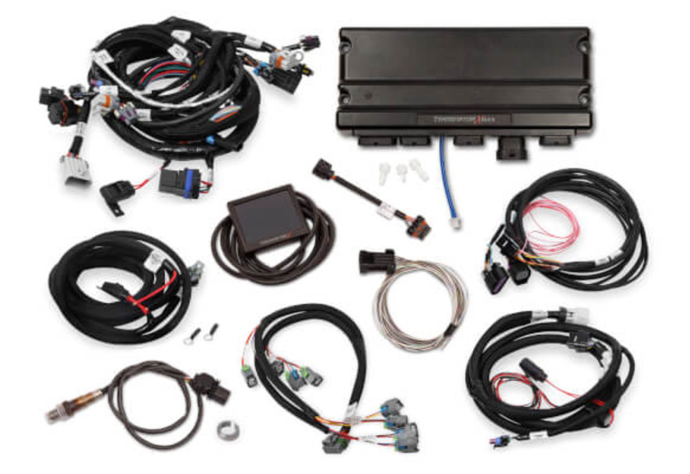 Holley EFI Terminator X MAX LS2/LS3 & Late 58X/4X LS Truck MPFI Kit with  DBW Throttle Body & Transmission Control #550-928