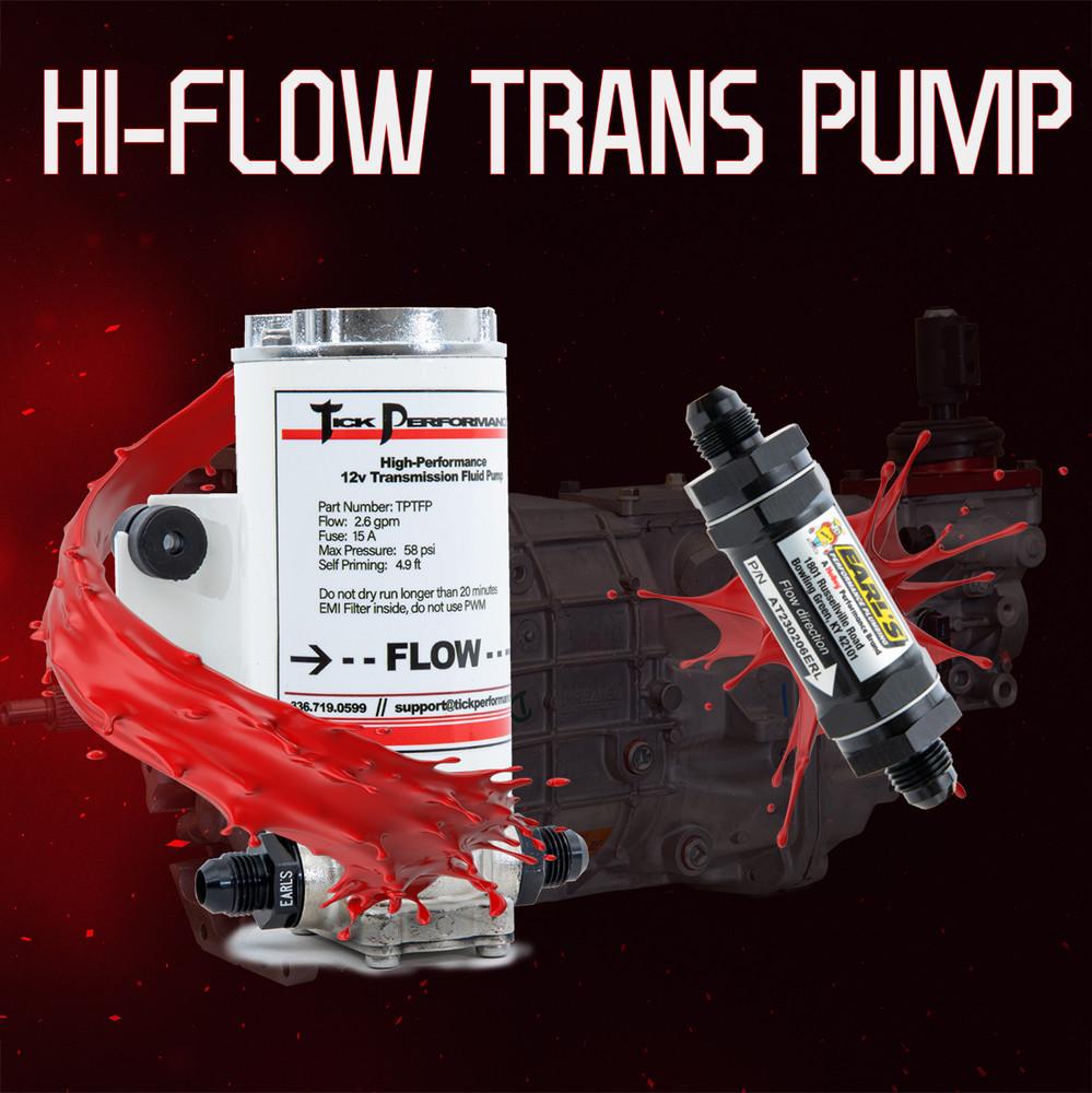 Tick Performance Hi-Flow Transmission Fluid Pump