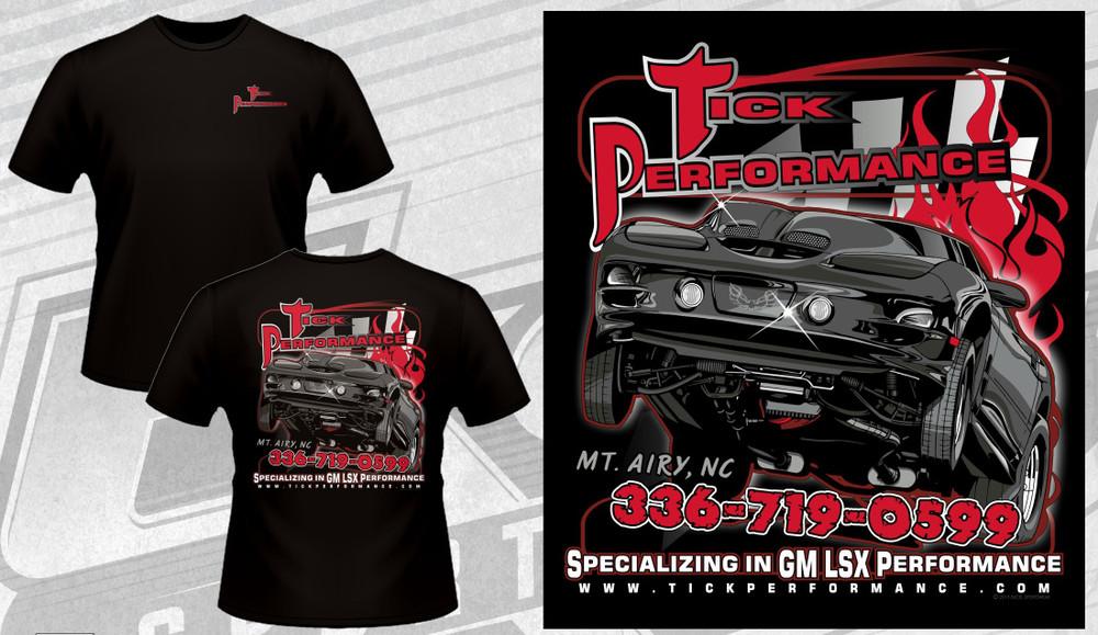 Tick Performance Trans Am Throwback T-Shirt, Black