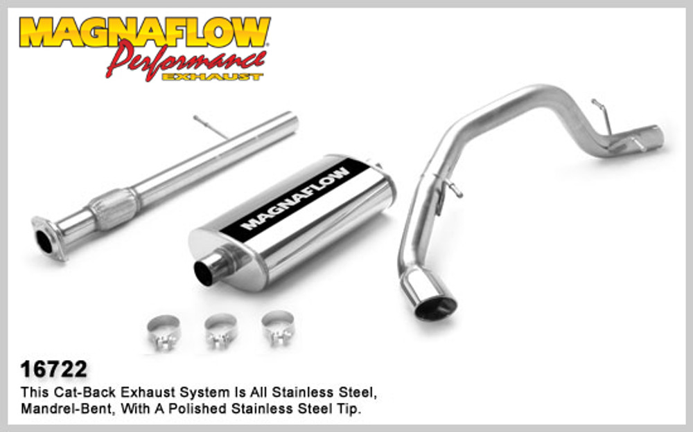 Magnaflow Stainless Steel Cat-Back System for 2007-2008 Chevrolet Suburban 1500; V8 5.3L 5 X 11 X 22in. Muffler; 3.0in. Tubing; 5.5in. Oval Polished Stainless Tip; SINGLE REAR PASSENGER SIDE EXIT
