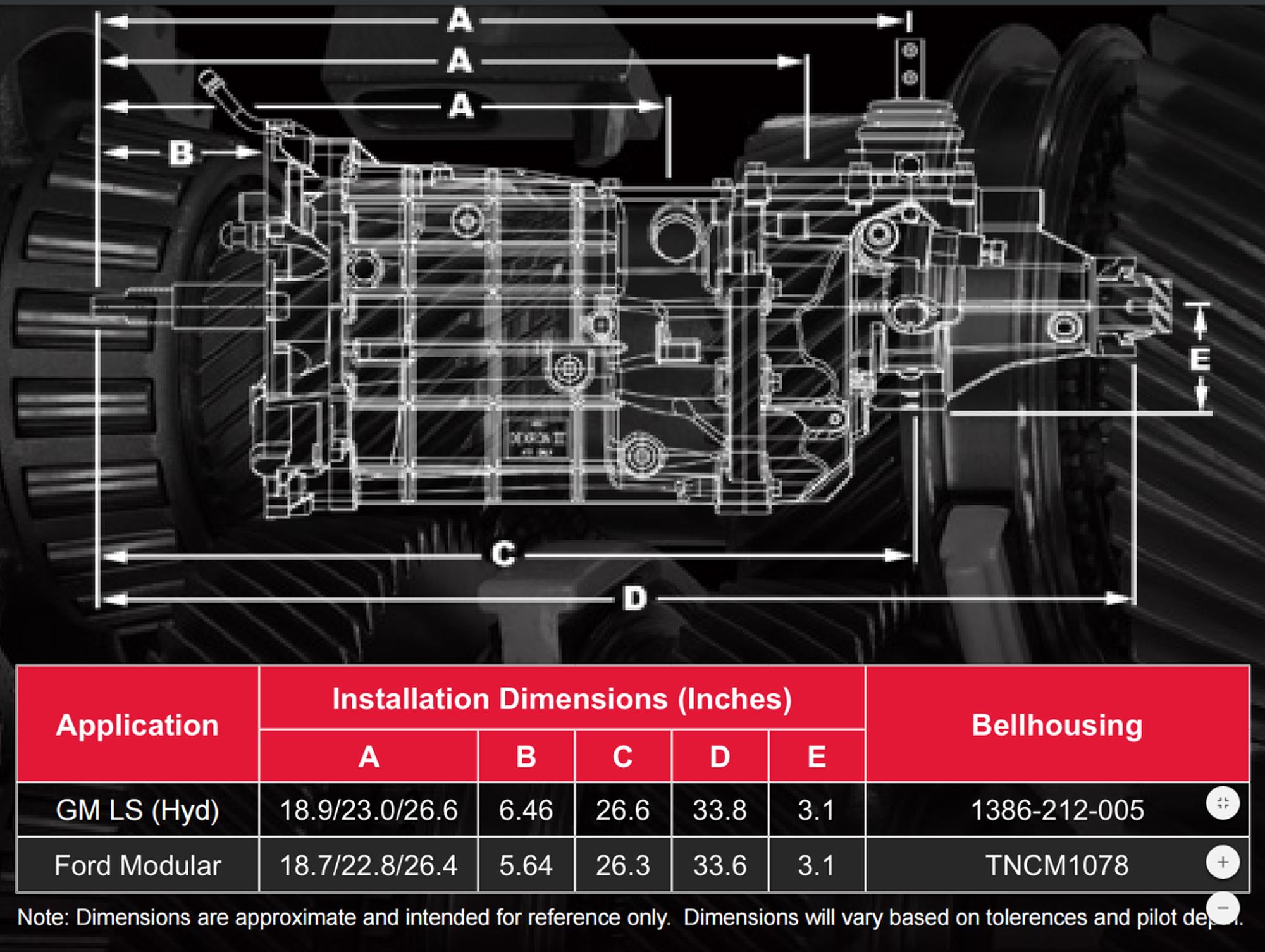 tremec t56 magnum manual transmission 6 speed 1 1 8\