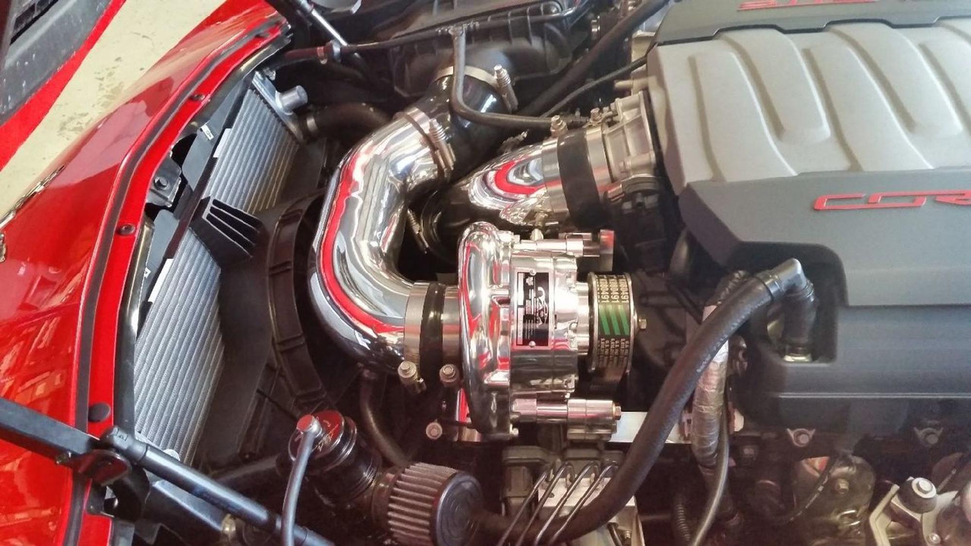 A&A Corvette Vortech Supercharger Kit for 2014-17 C7 Corvette (Polished)
